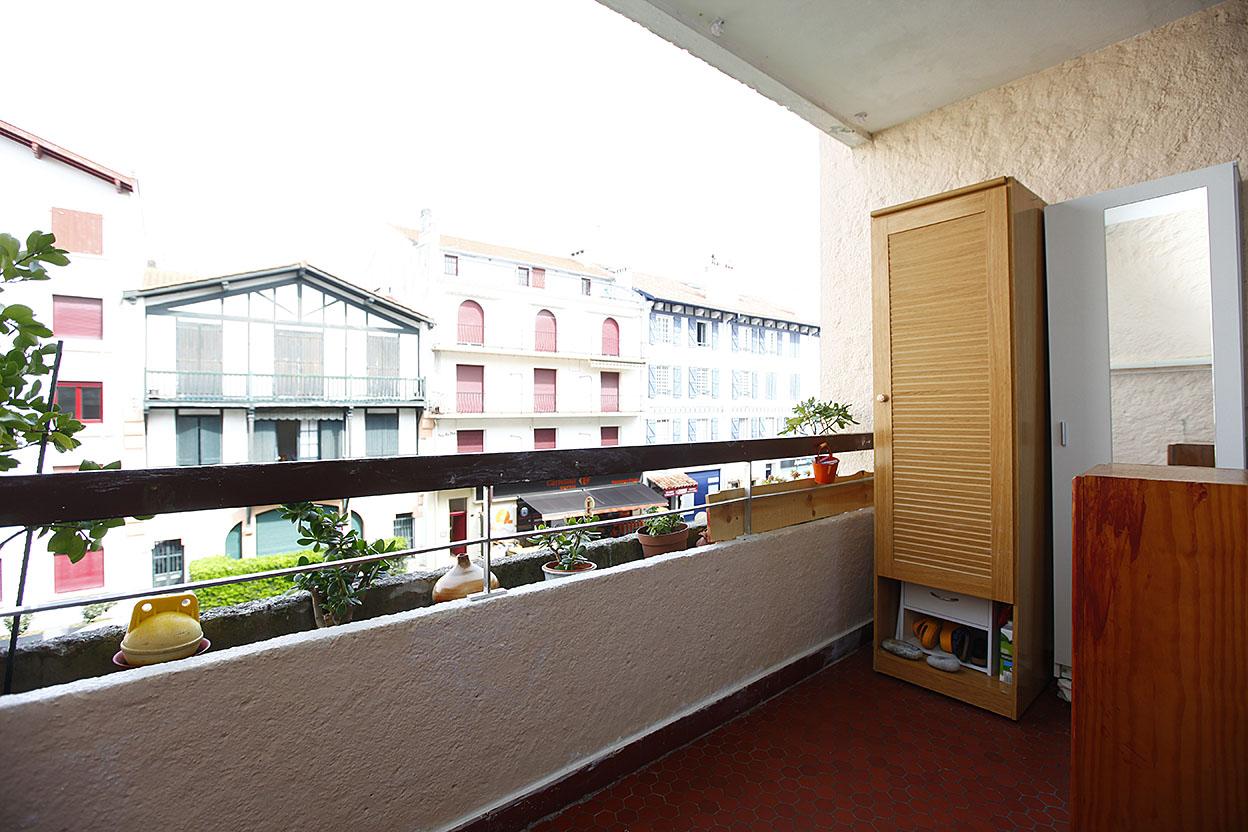 PLAYA: Piso de 1 habitación y terraza, cerca de la playa de hendaia