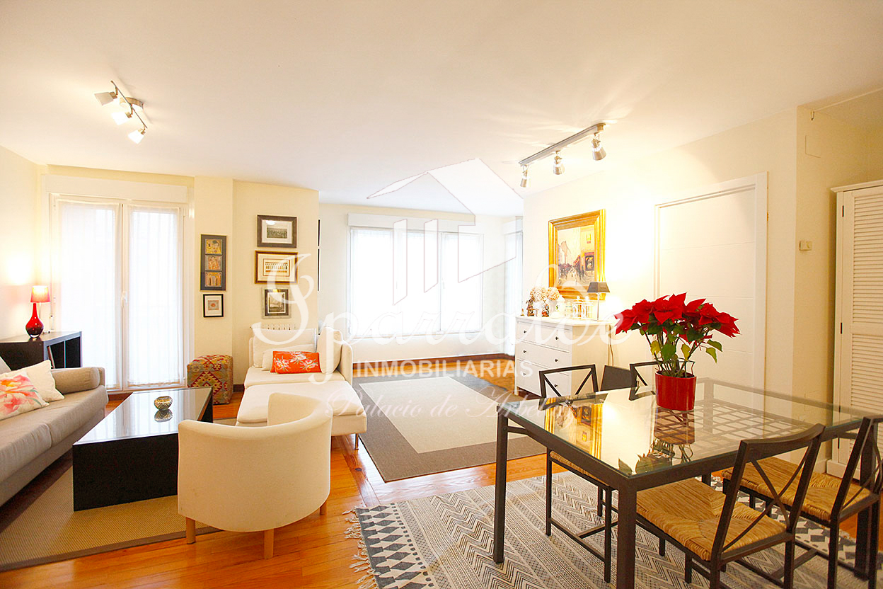 Preciosa vivienda de 85 m2 en la Avenida de Salis de Irun, con hermoso salón de 25 m2.