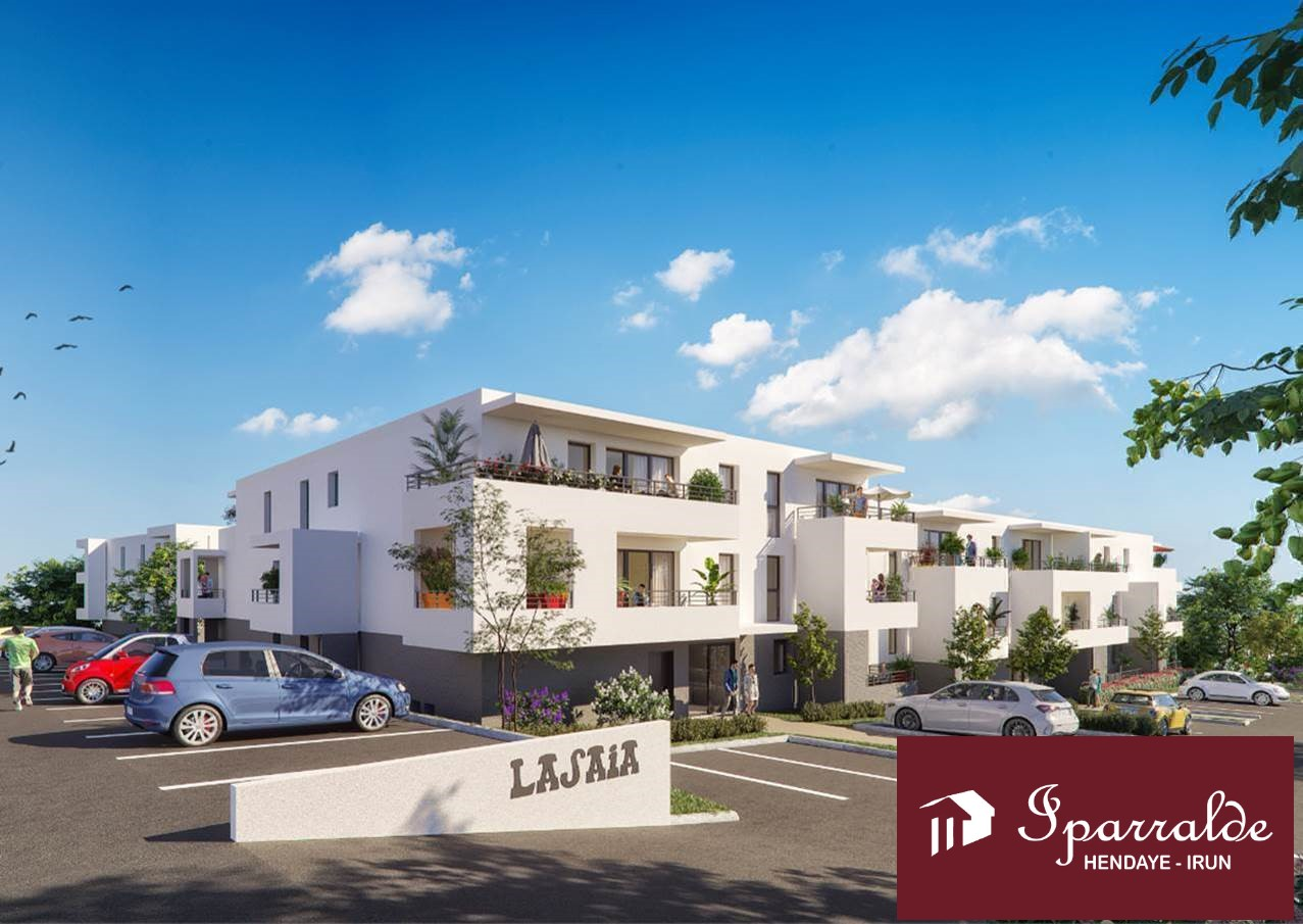 Preciosa vivienda de Obra Nueva en Hendaye Plage (64), de 75,26 m2 + esplendida Terraza de 26m2! + 2 parkings + Trastero e IVA incluído.