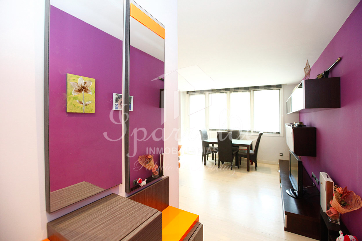 Piso de 75 m2( útiles), y tres habitaciones en el barrio de  Anaka de Irún . Trastero de 13 m2